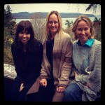 Skenewood Sirens Joanna Parson, Kathryn Cramer and MarbyBeth Coudal at Adirondack Memoir Retreat 2012