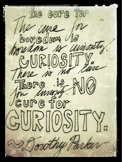 No Cure for Curiosity: Banish boredom with curiosity!