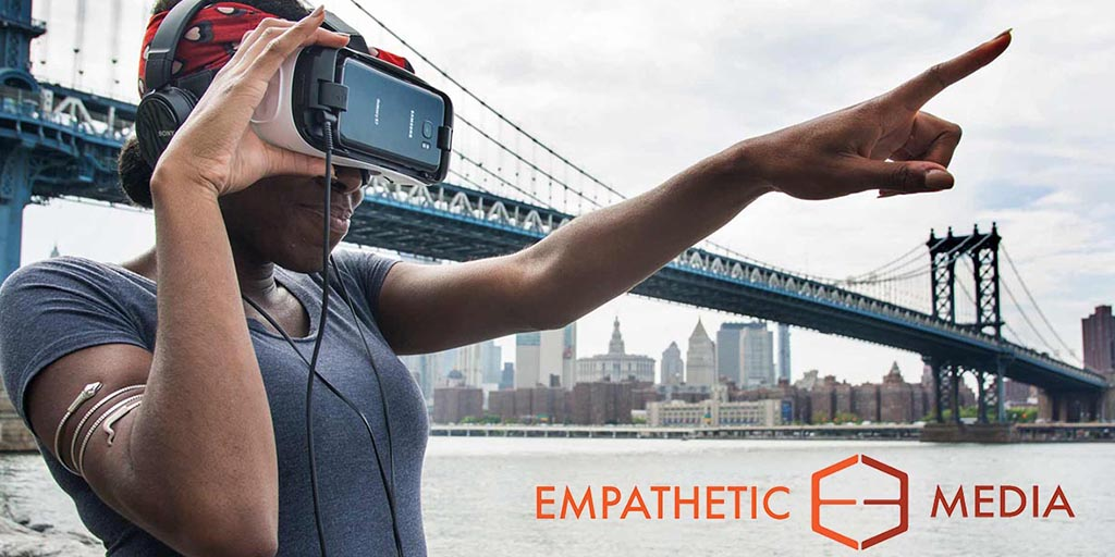 Stories via virtual/augmented reality, 360° video, etc. (Source: empatheticmedia.com)